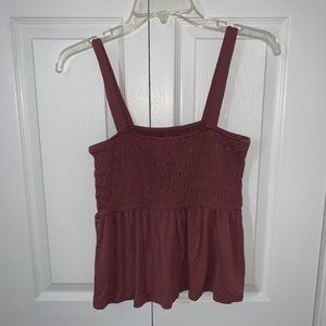 American Eagle Pink Strapped Tank Top